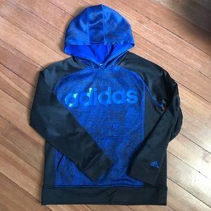 Adidas Black/Royal Blue Pullover Hoodie